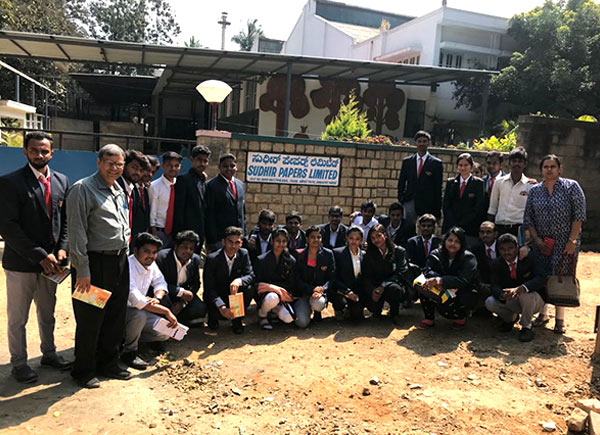 MBA Students Industrial visit to Sudhir Papers Limited